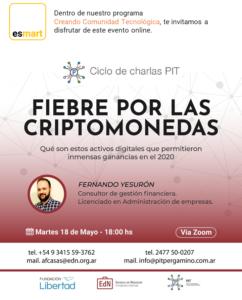 flyer evento criptomonedas